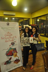 With Bhagyashree at the book launch